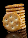 Biscoito redondo de sal Imagens de Stock Royalty Free