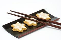 Biscoito Star-shaped da canela Imagens de Stock Royalty Free