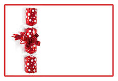Biscoito vermelho do Natal Imagem de Stock