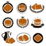 Biscoitos ajustados Vetor ilustração do vetor