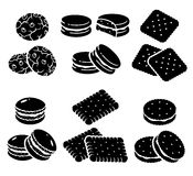 Biscoitos ajustados Vetor Fotos de Stock Royalty Free