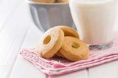 Biscoitos amanteigados doces fotografia de stock