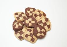 Biscoitos caseiros do tabuleiro de damas Fotos de Stock
