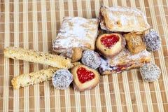 Biscoitos caseiros, doces Fotografia de Stock