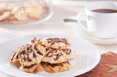 Biscoitos caseiros e café Imagem de Stock Royalty Free