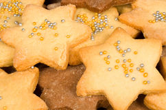 Biscoitos cheios do Natal do frame Fotografia de Stock Royalty Free