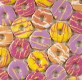 Biscoitos coloridos redondos Fotografia de Stock Royalty Free