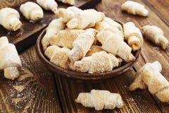 Biscoitos com açúcar fotografia de stock