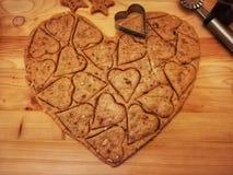 Biscoitos com amêndoas fotografia de stock