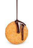 Biscoitos com chocolate Fotografia de Stock Royalty Free