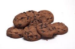 Biscoitos com chocolate imagem de stock