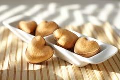 Biscoitos com forma do coração Fotos de Stock Royalty Free