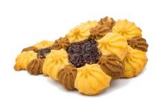 Biscoitos com o atolamento isolado Imagem de Stock