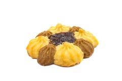 Biscoitos com o atolamento isolado Foto de Stock