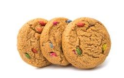 Biscoitos com o chocolate isolado imagem de stock