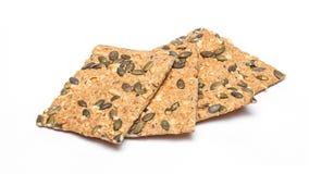 Biscoitos com queijo e sementes imagem de stock