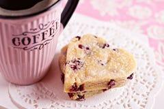 Biscoitos coração-dados forma Shortbread Foto de Stock Royalty Free