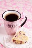 Biscoitos coração-dados forma Shortbread Imagens de Stock Royalty Free