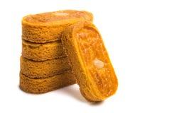 biscoitos da amêndoa isolados Fotografia de Stock Royalty Free