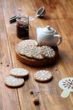 Biscoitos da baunilha do vegetariano Fotos de Stock