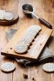 Biscoitos da baunilha do vegetariano Fotografia de Stock
