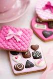 Biscoitos da caixa do chocolate Imagem de Stock Royalty Free