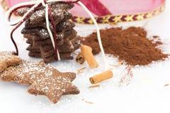Biscoitos da canela com cacau e entusiasmo alaranjado Fotos de Stock Royalty Free