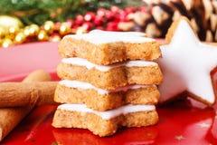 Biscoitos da canela do Xmas Imagem de Stock