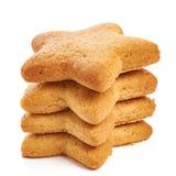 Biscoitos da estrela isolados Imagem de Stock Royalty Free