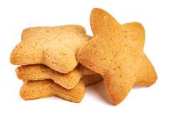 Biscoitos da estrela isolados Foto de Stock