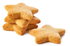 Biscoitos da estrela isolados Fotos de Stock Royalty Free