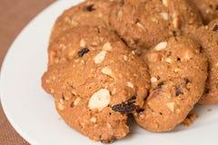Biscoitos da farinha de aveia e de passa Imagens de Stock