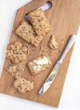 biscoitos da Inteiro-grão com manteiga Imagens de Stock Royalty Free