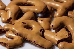 Biscoitos da letra Fotografia de Stock