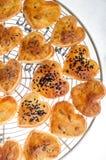 Biscoitos dados forma coração Foto de Stock Royalty Free