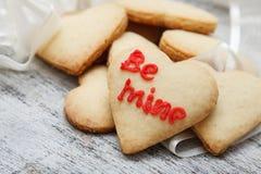 Biscoitos de açúcar dados forma coração Imagens de Stock Royalty Free