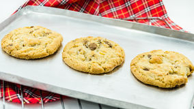 Biscoitos de amêndoa do chocolate Fotografia de Stock Royalty Free