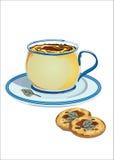 Biscoitos de creme com sábio Fotos de Stock Royalty Free