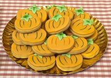 Biscoitos de Dia das Bruxas Fotografia de Stock