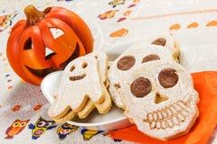 Biscoitos de Dia das Bruxas Foto de Stock