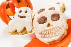 Biscoitos de Dia das Bruxas Fotos de Stock Royalty Free