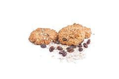 Biscoitos de farinha de aveia Fotos de Stock