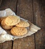 Biscoitos de farinha de aveia Fotos de Stock Royalty Free