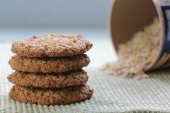 Biscoitos de farinha de aveia Fotografia de Stock