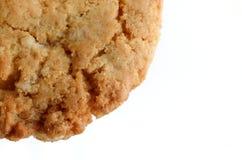 Biscoitos de farinha de aveia no fundo branco Fotos de Stock