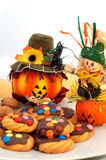 Biscoitos de Halloween Fotos de Stock Royalty Free