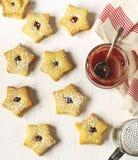 Biscoitos de Linzer imagens de stock