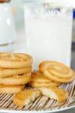 Biscoitos de manteiga imagens de stock
