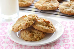 Biscoitos de manteiga caseiros do amendoim Fotografia de Stock Royalty Free