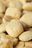 Biscoitos de ostra crocantes orgânicos Imagens de Stock